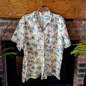 3 for $20 yellow floral button-down  22 w/24w